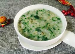 香菇肉末青菜粥
