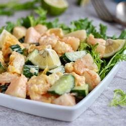 脆皮虾肉沙拉