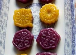 紫薯南瓜糯米饼