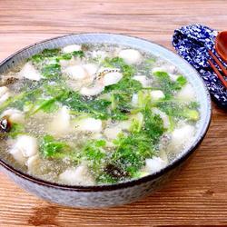 香菜鱼片汤