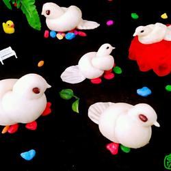 可爱的小鸽子馒头