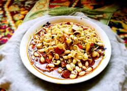 黄豆芽拌双丁