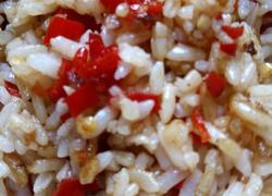 红尖椒酱油炒饭