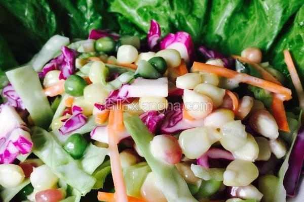 五彩缤纷蔬菜沙拉