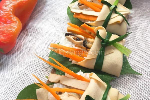 淡菜饭团花束