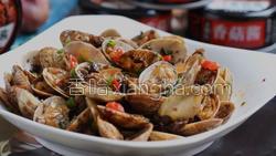 香菇酱炒花蛤的做法图解15