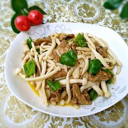 海鲜菇炒肉片