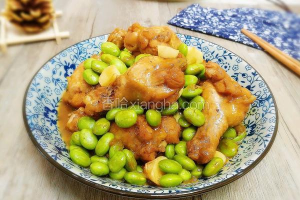 鸡翅根炖毛豆