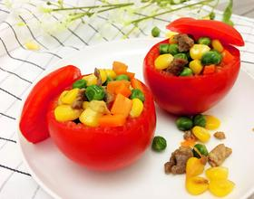 好看又好吃的西红柿玉米盏[图]
