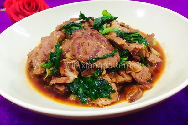 牛肉烧青菜