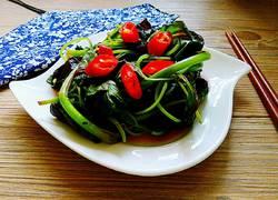 美人椒炒红苋菜