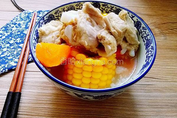 排骨玉米萝卜汤