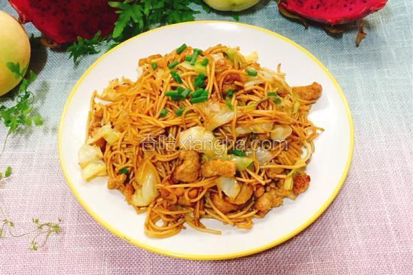 油豆腐肉丝炒面