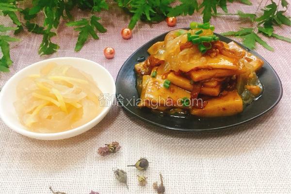 海蜇丝炒年糕