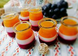 多色水果布丁