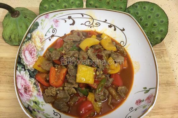 彩椒肉片。