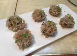 珍珠丸子-糯米饭团-糯米胡萝卜香菇丸子