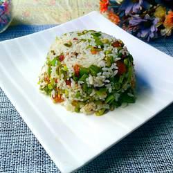 豆角沥米饭