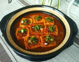砂锅豆腐酿肉[图]