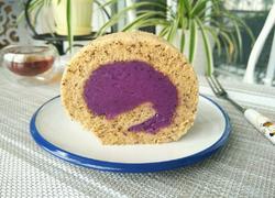 红茶紫薯蛋糕卷