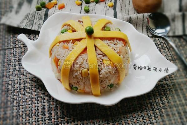 虾仁蛋包饭