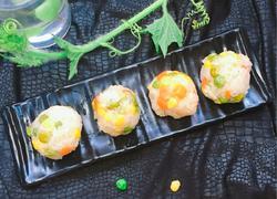 菜蔬糯米饭团