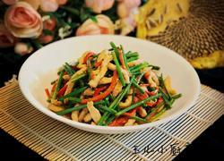 韮菜苔炒肉丝