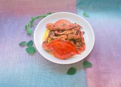 咸蛋黄炒梭子蟹
