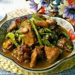 青椒焖鸡块