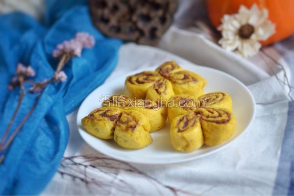 综合果蔬豆沙蝴蝶卷(不加水和面)
