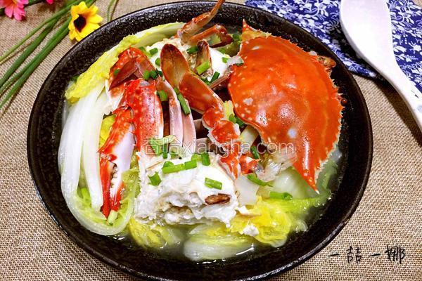 娃娃菜煮螃蟹