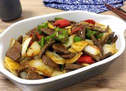白菜梗炒猪肝