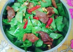 扁豆炒瘦肉片