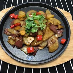 腊肉铁板烧土豆
