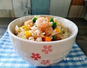 甜虾彩蔬炒饭
