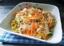 虾皮包菜炒粉丝