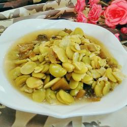 蚕豆酸菜汤