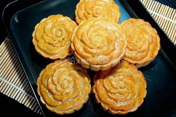 玫瑰花馅月饼