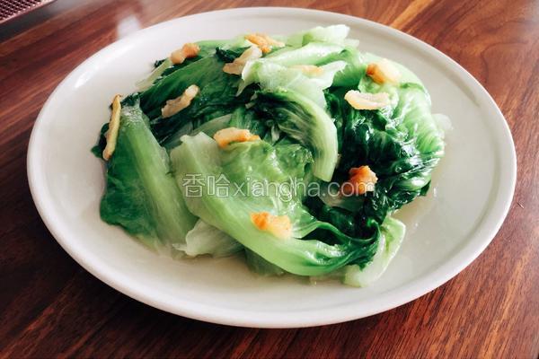猪油渣炒生菜