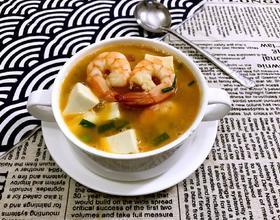 鲜虾豆腐汤[图]