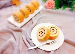 蓝莓酱蛋糕卷
