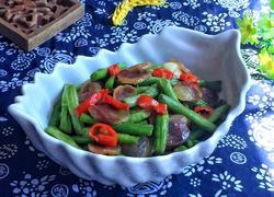 腊肠炒豇豆