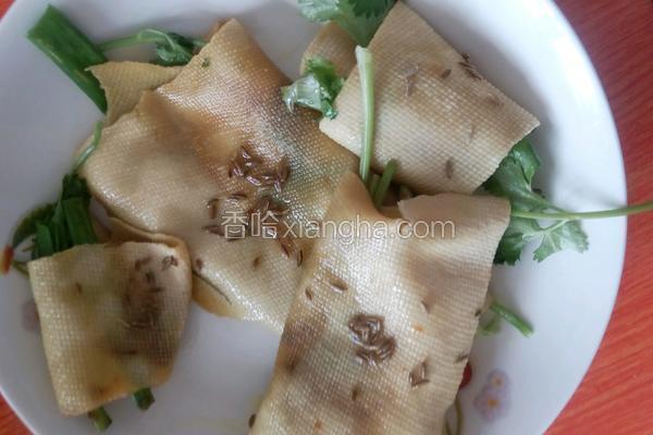 煎干豆腐卷