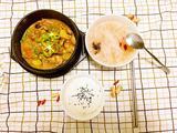 早餐组合(黄焖鸡米饭,萝卜紫菜汤)的做法[图]