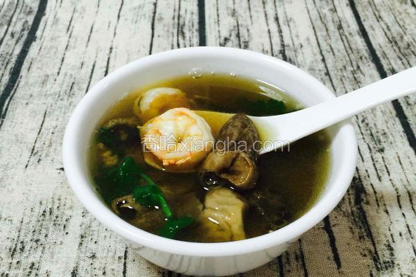 土猪肉海虾草菇汤