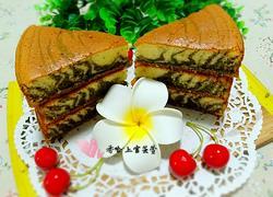 椰香抹茶花纹蛋糕