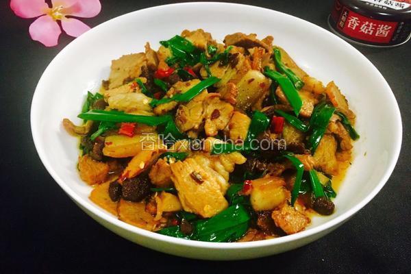 香菇酱炒五花肉