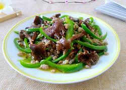 榛蘑炒尖椒肉末