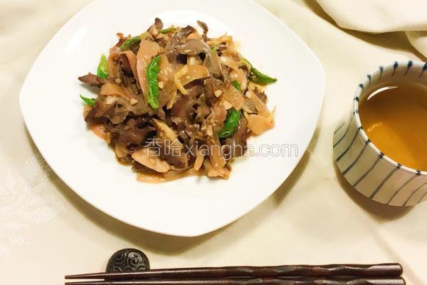 泡菜萝卜炒猪心