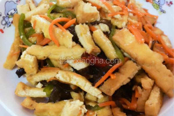 三丝炒豆腐